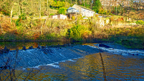 Weir at Hollins Mill, Sowerby Bridge