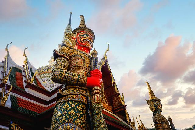 Red giant stupa in Wat Phra Kaew