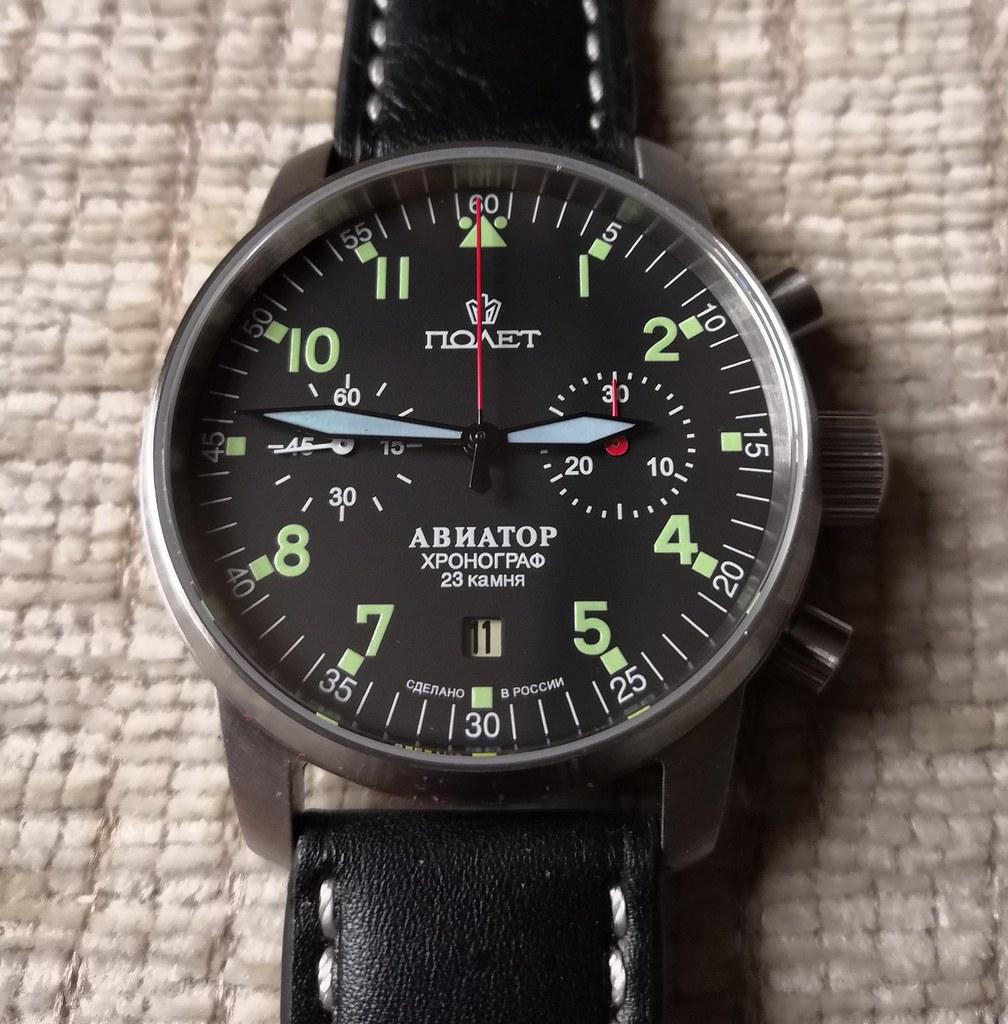 40mm Poljot Aviator I Chronograph (Cal Poljot 3133) (2)