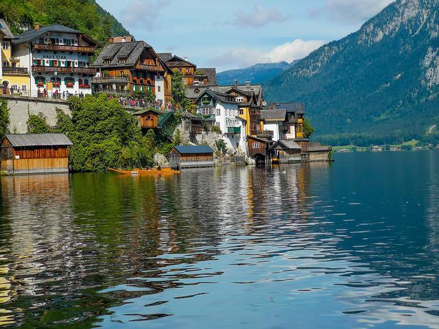 Another view of the UNESCO WORLD HERITAGE village of Hallstatt in Salzkammergut, Austria.