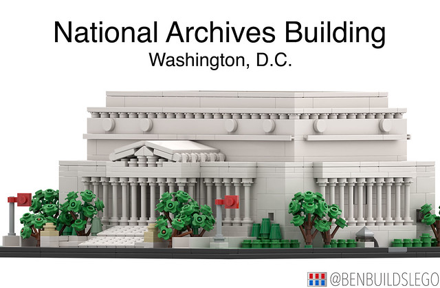 Micro Lego National Archives Building