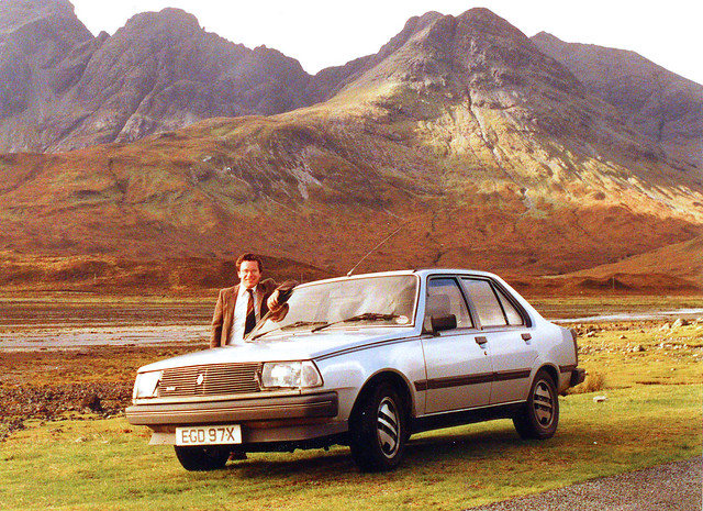 Renault 18 Turbo & the Cuillin Hills. (1984)