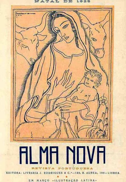 Capa de revista antiga portuguesa | old portuguese magazine cover | edição de Natal | Christmas edition | 1925