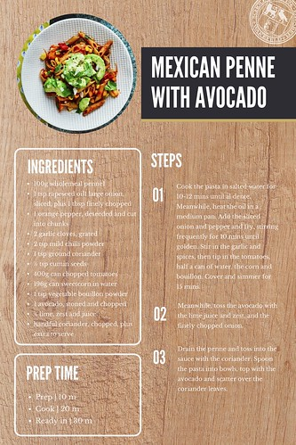 Mexican Penne Recipe Card
