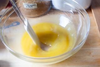 butter, sugar, vanilla