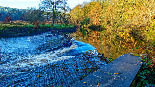 Hollins Mills Weir, Sowerby Bridge