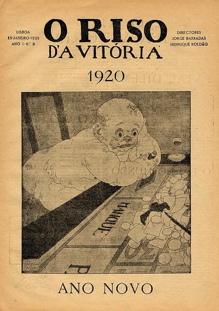 Capa de jornal português antigo | Old portuguese newspaper cover | 1920