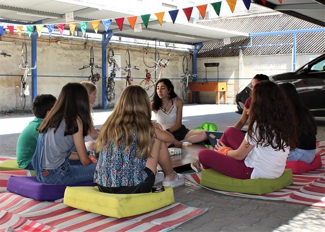 Cabildo infantil en Colunga