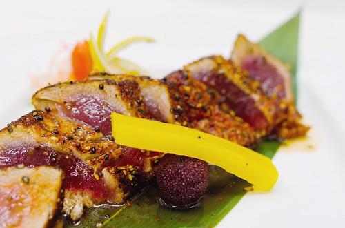 Honey Wasabi Tuna Steak