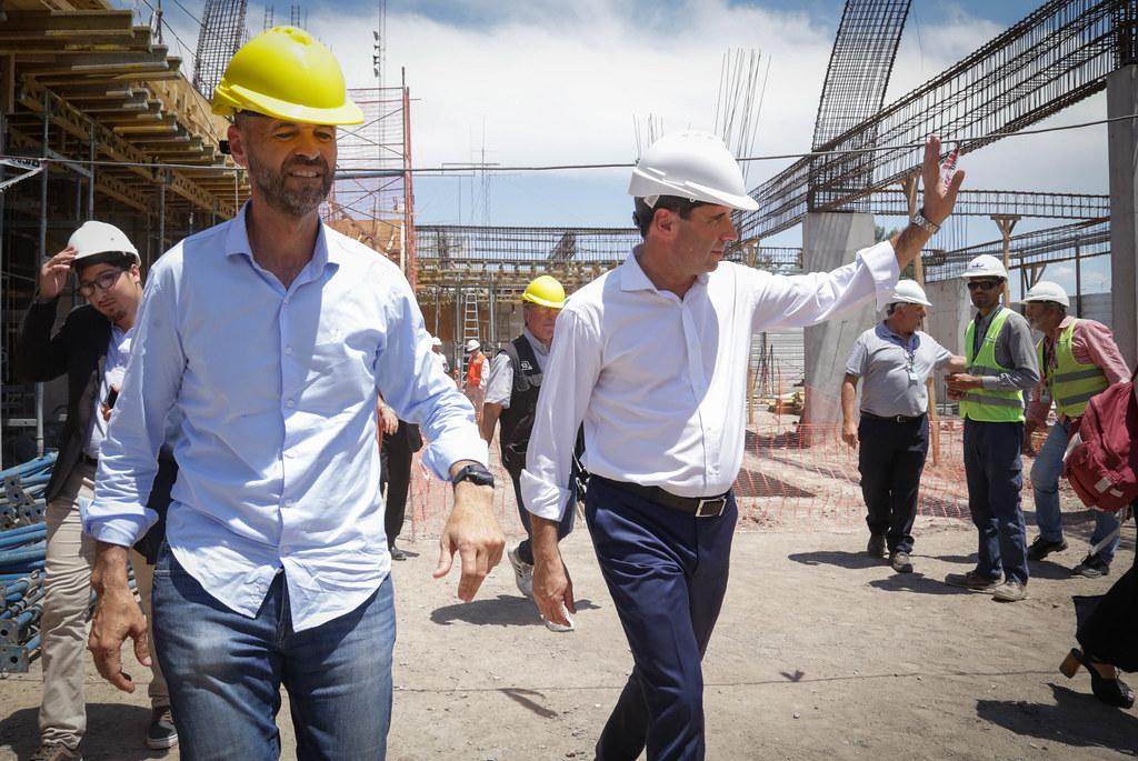 2019-12-02 PRENSA: Uñac y Dietrich Recorrieron Obras del Aeropuerto
