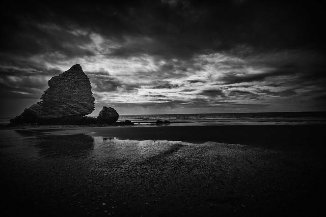 Luces y sombras en la playa