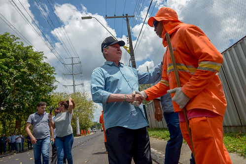 02.12.19 Prefeito vistoria obras do Requalifica 2 no Parque Dez de Novembro