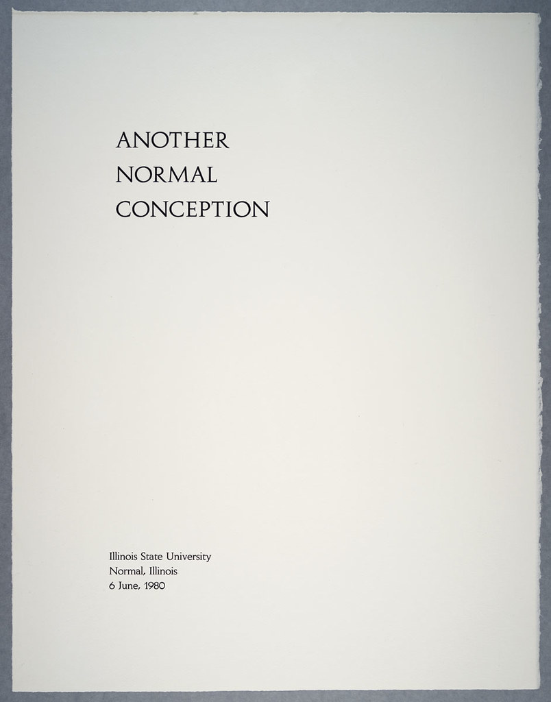 Title page from Another Normal Conception portfolio