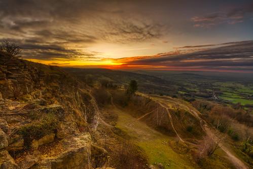 sunset leckhampton leckhamptonhill cotswolds gloucestershire hdr d7100 5xp