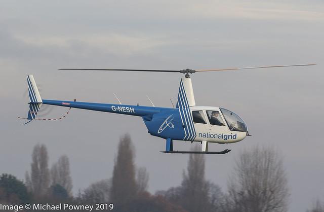 G-NESH - 2007 build Robinson R44 Clipper II, inbound to Barton
