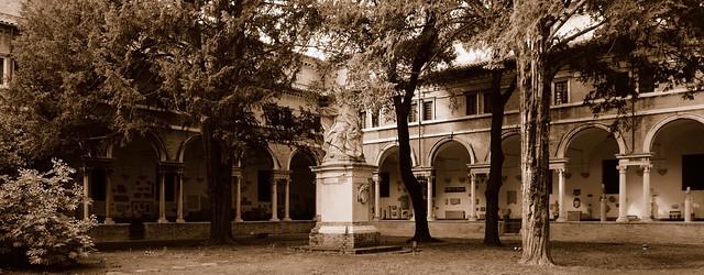 Benedictine monastery cloister, 16thC - Basilica di San Vitale, Ravenna, Italy.