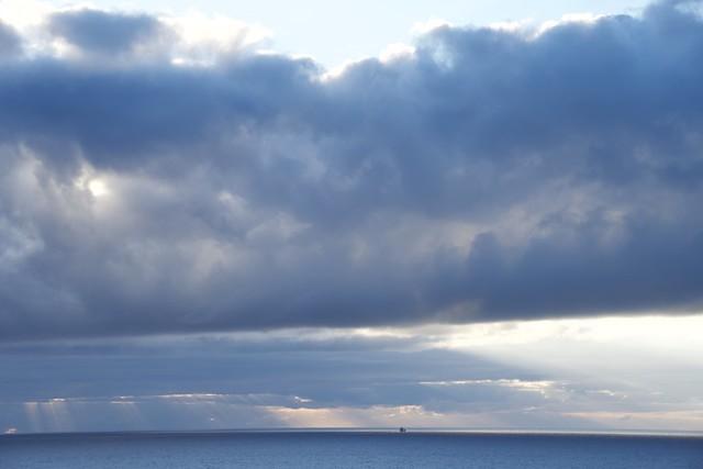 Bon Dimarts de núvols a Los Cancajos, Breña Baja, illa de La Palma (Canàries).