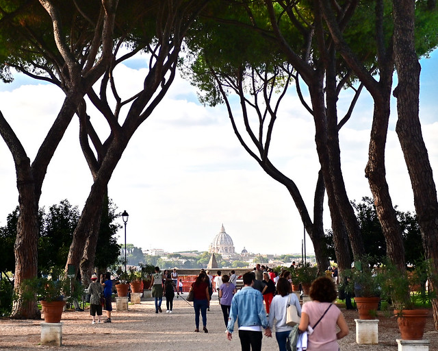 Mirador del jardín de los naranjos de Roma