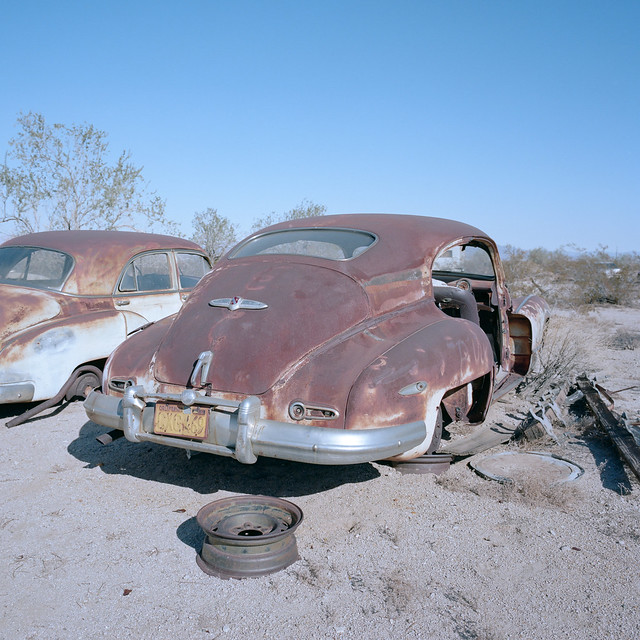 1946 buick. desert center, ca. 2019.