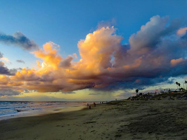 Thanksgiving sunset, California beach