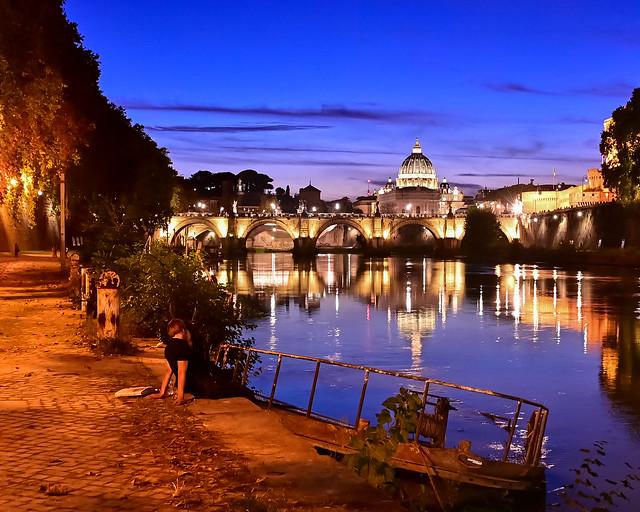 Rio Tiber al atardecer