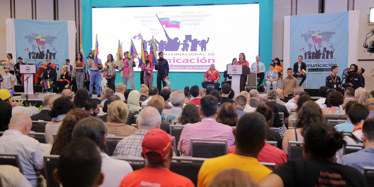 Inicia en Caracas Congreso Internacional de Comunicación 'Ahora hablan los pueblos
