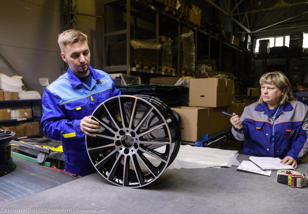 Как делают литые алюминиевые диски на заводе ЛМЗ «СКАД» 999A8159
