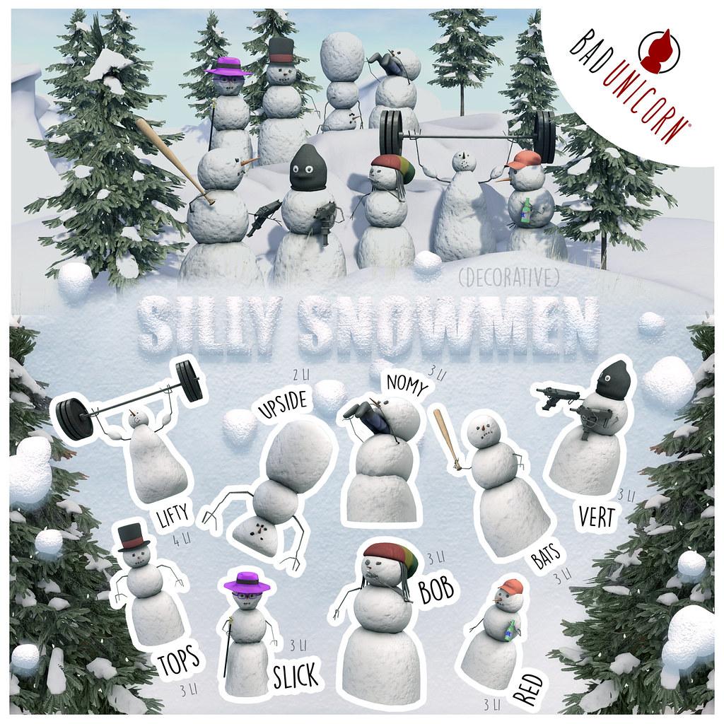 NEW! Silly Snowmen Gacha @ The Arcade