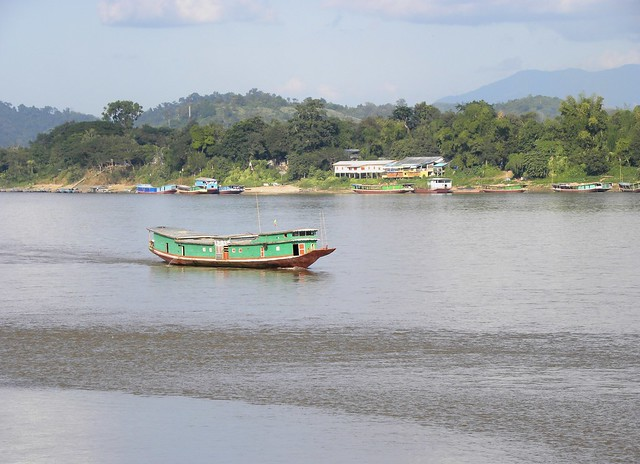 Ship from Myanmar on the Mekong river