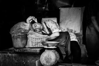 sleepy Chiang Mai market