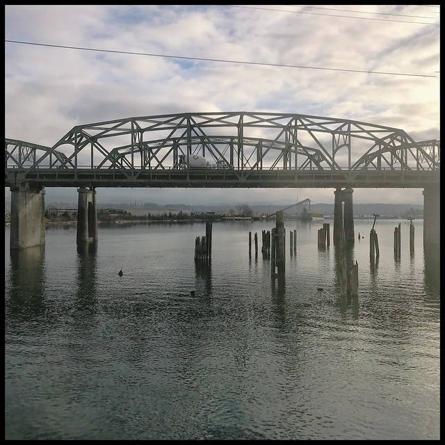 Bridge- shot on The Amtrak Train- Vancouver B.C. to Olympia WA
