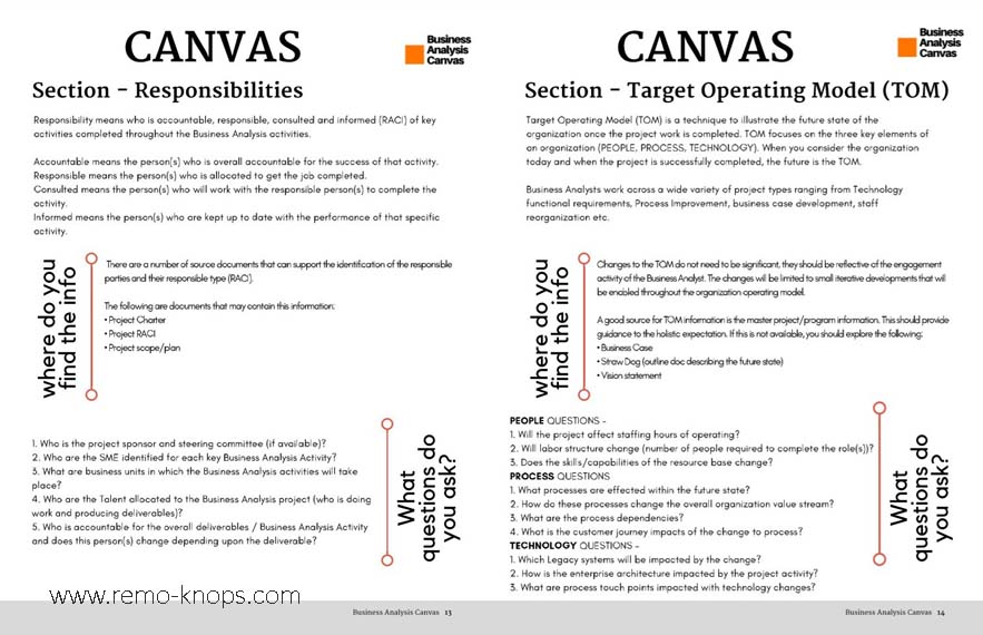 Business Analysis Canvas Playbook Screenshot - Jason Kelly - ascio Consultancy