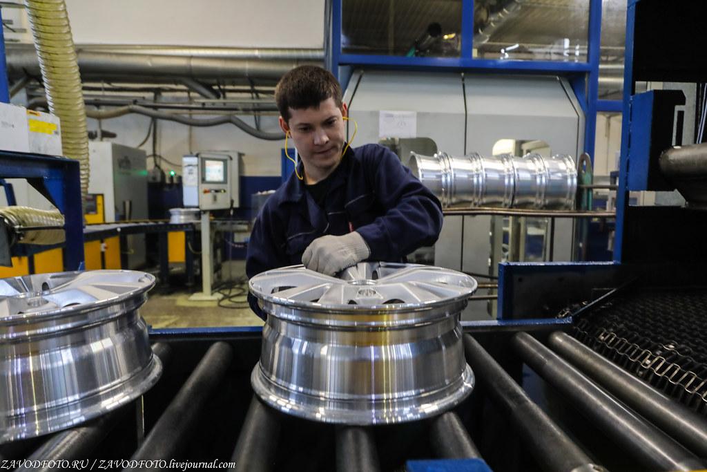Как делают литые алюминиевые диски на заводе ЛМЗ «СКАД» 999A8547