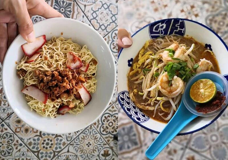 kuching_Kolo mee & Sarawak Laksa