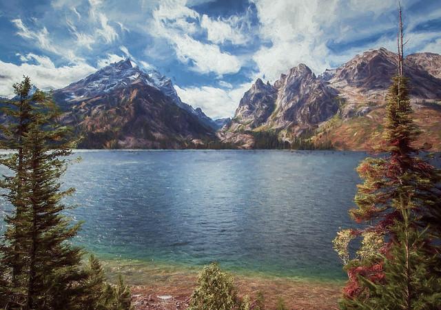 Jenny Lake - Textured