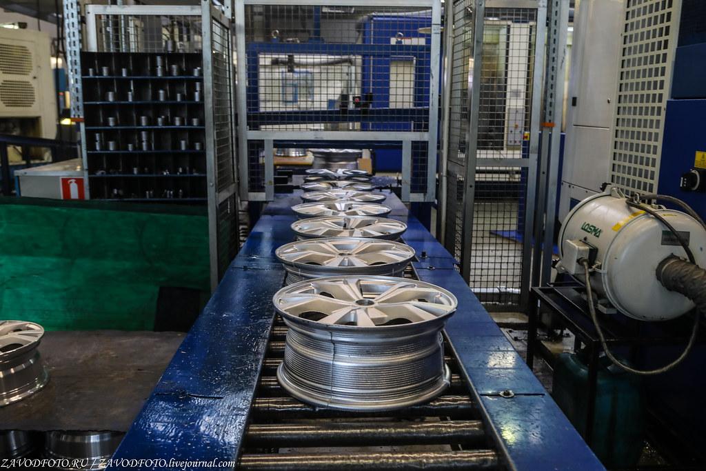 Как делают литые алюминиевые диски на заводе ЛМЗ «СКАД» 999A8241
