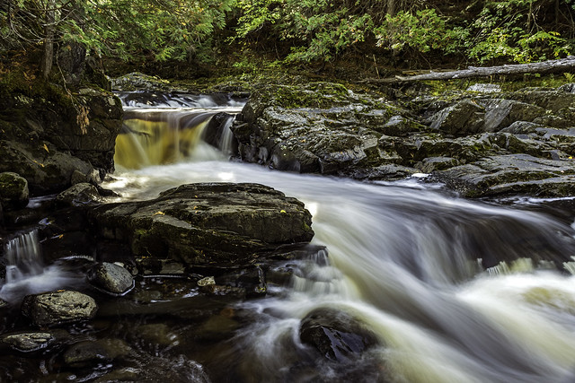 Middle Falls of the silver River in Baraga County, U.P.Michigan