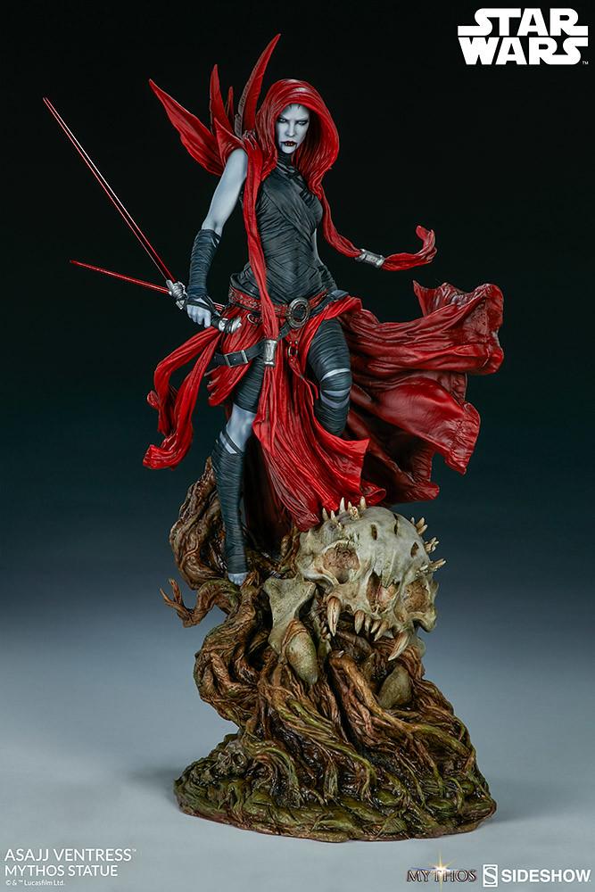 無比複雜且充滿魅力的女刺客! Sideshow Collectibles《星際大戰》「阿莎潔·凡翠絲 (Asajj Ventress)」- Mythos 全身雕像