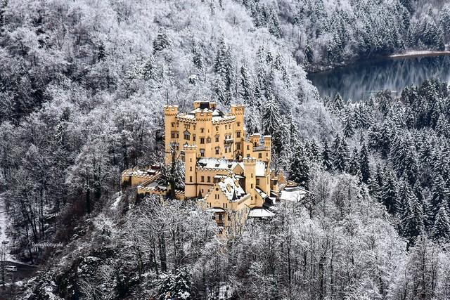 View to castle Hohenschwangau, Bavaria, Germany