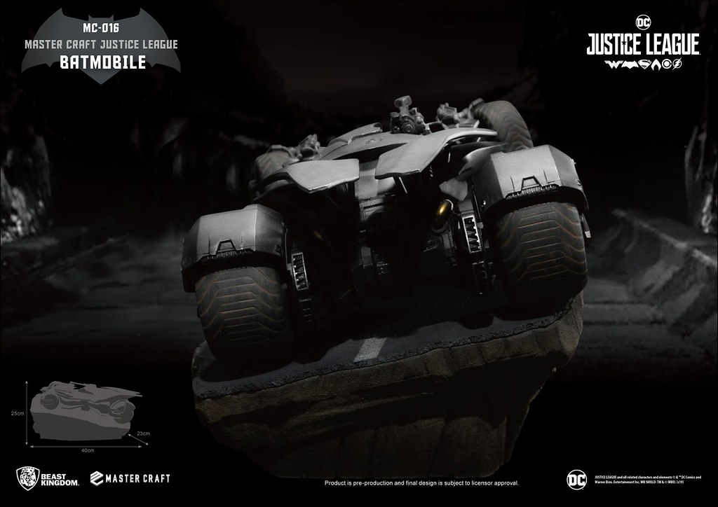 高速奔馳於戰場的狂暴野獸! 野獸國 Master Craft 系列《正義聯盟》蝙蝠車 Batmobile MC-016 雕像