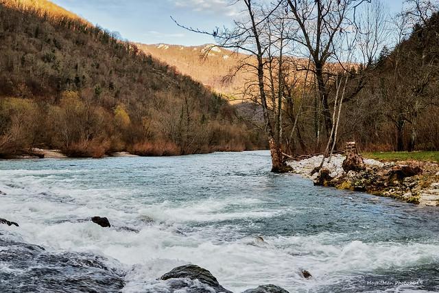 Kupa nizvodno s jaza u Goršetima