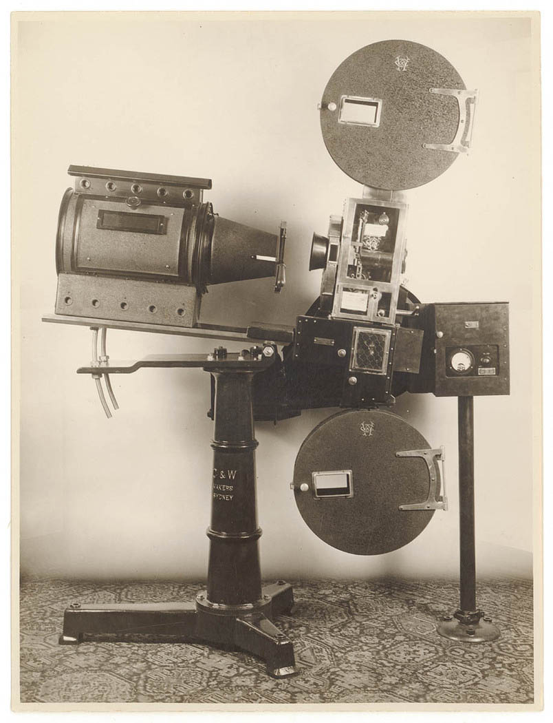 Cummings and Wilson movie projector, Sydney, ca. 1930, Sam Hood
