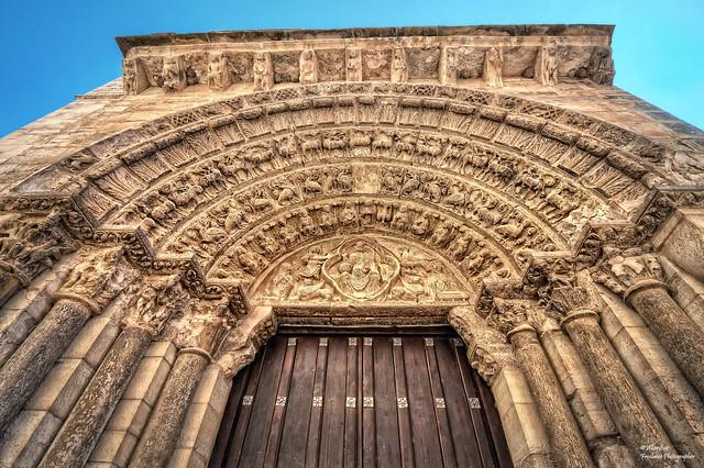 Iglesia Románica de la Magdalena (Pórtico Principal). Tudela (Navarra)