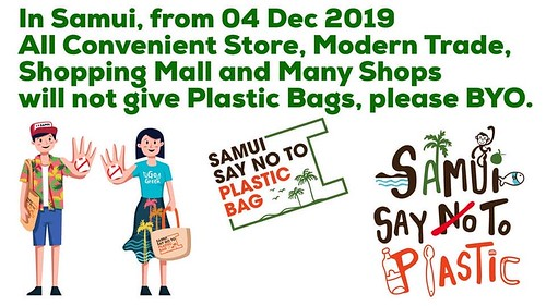 No plastic bag campaign widespread already in koh samui