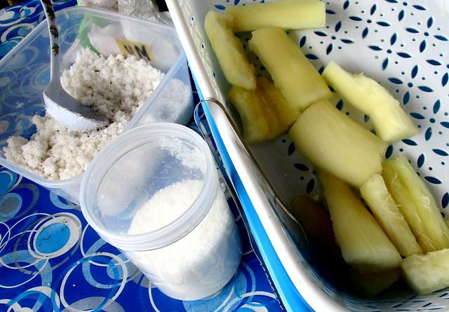 Tamu Muhibbah Miri tapioca, cooked