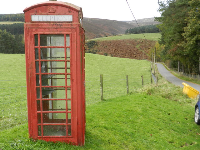 Red Telephone Box, Glensaugh, Oct 2019