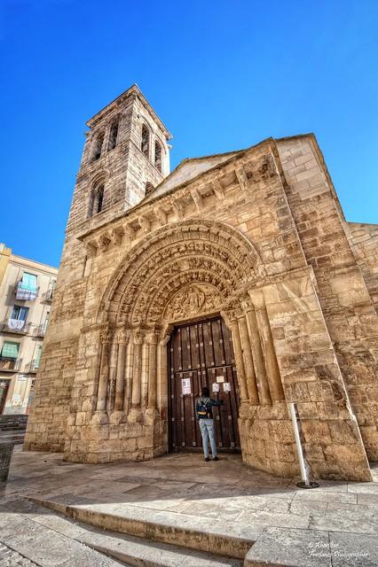 Iglesia Románica de la Magdalena (Fachada Principal). Tudela (Navarra)