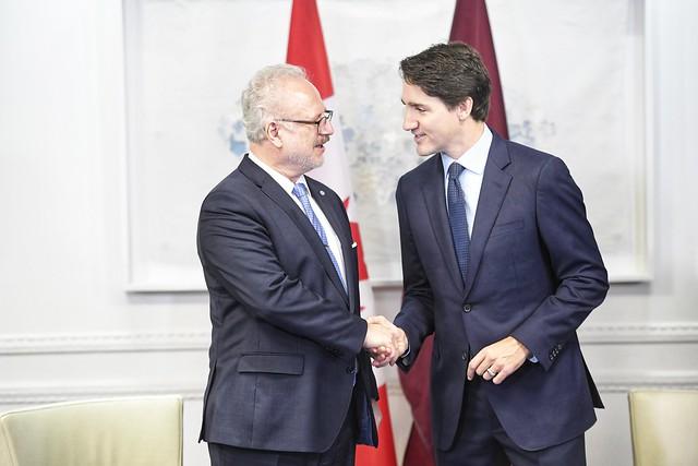 03.12.2019. Valsts prezidenta tikšanās ar Kanādas premjerministru Džastinu Trudo (Justin Trudeau)