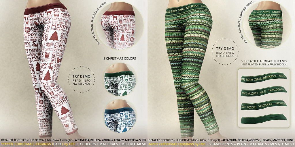 HEC (Event Exclusives) • Christmas Leggings MISSY & PEPPER PACKS