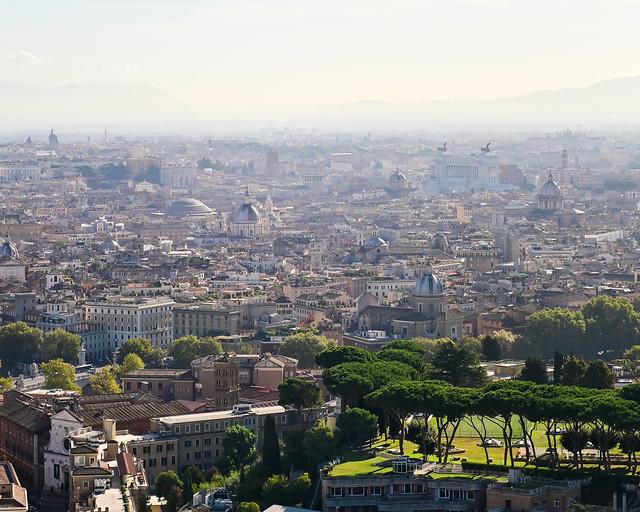 Vistas de Roma desde la cúpula del Vaticano